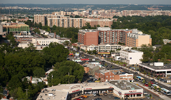 birds eye view of the columbia pike corridor