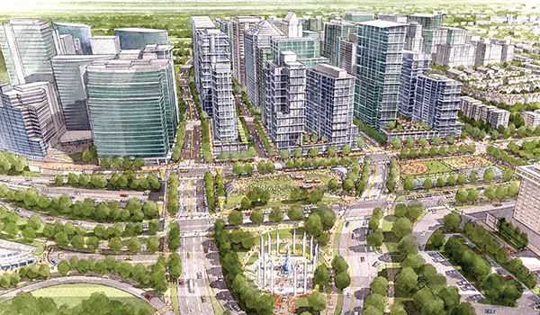 artistic rendering of rosslyn on the cover of the rosslyn sector plan