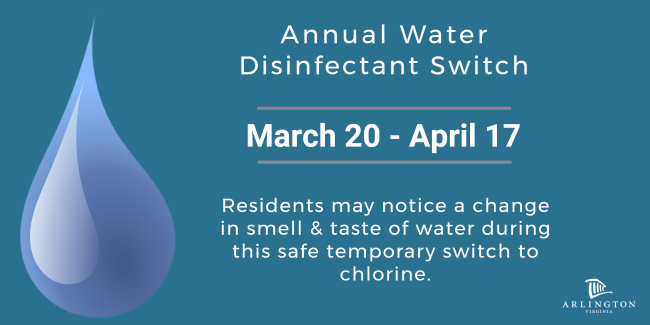 Annual Water Disinfectant Switch
