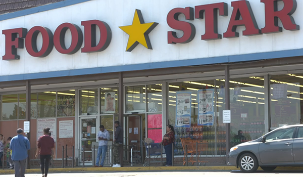 front of the now closed food star supermarket