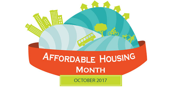 affordable housing month, october 2017 graphic