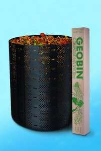 composting bin full of food waste